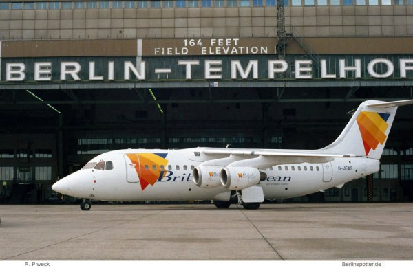 British European Airways, BAe 146-200 G-JEAS (THF 11/2000)