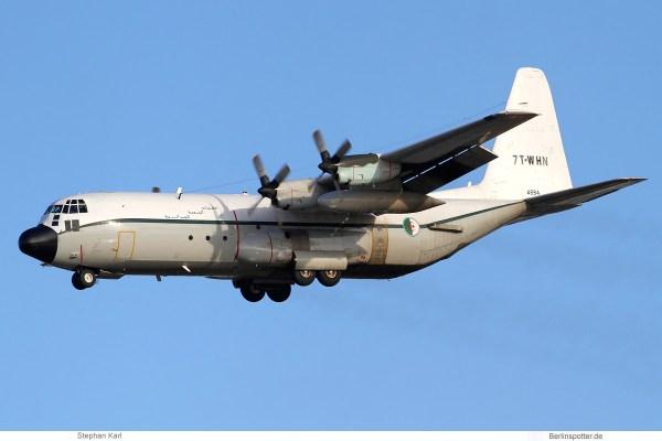 Algerian Air Force, Lockheed C-130H-30 7T-WHN (TXL 18.1.2020)