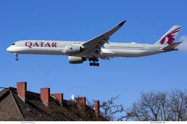 Qatar Airways, Airbus A350-1000 A7-ANB (TXL 4.4.2020)