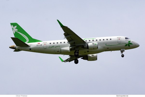 Jasmin Airways, Embraer 170 TS-IJB (SXF 30.5.2020)