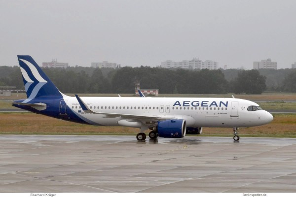 Aegean Airlines, Airbus A320neo SX-NEO (TXL 20.6.2020)