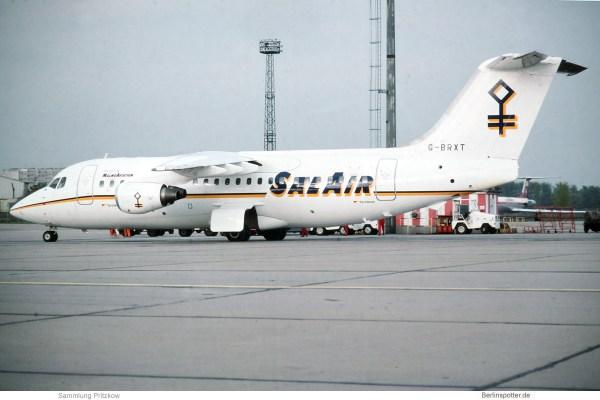 SalAir, BAe 146-200 G-BRXT (SXF 2.5.1991)