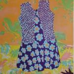 Das Kleid mit der Krawatte. 50 x 40 cm