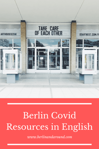Berlin Covid resources english