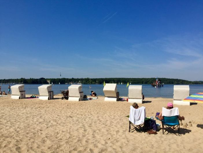 Berlin on the beach? Stranden ved Wannsee