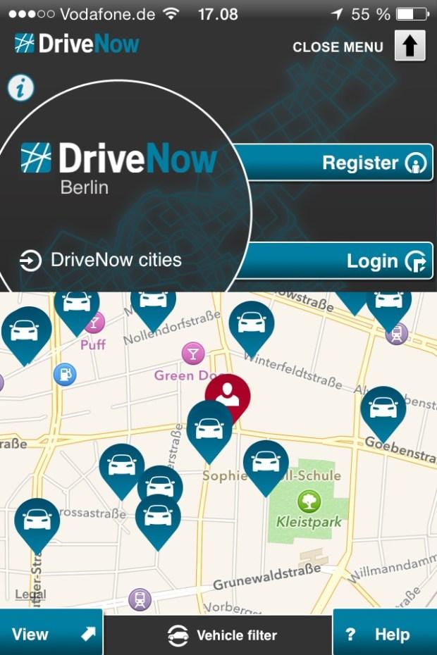 Drive-Now - lej bil i Berlin