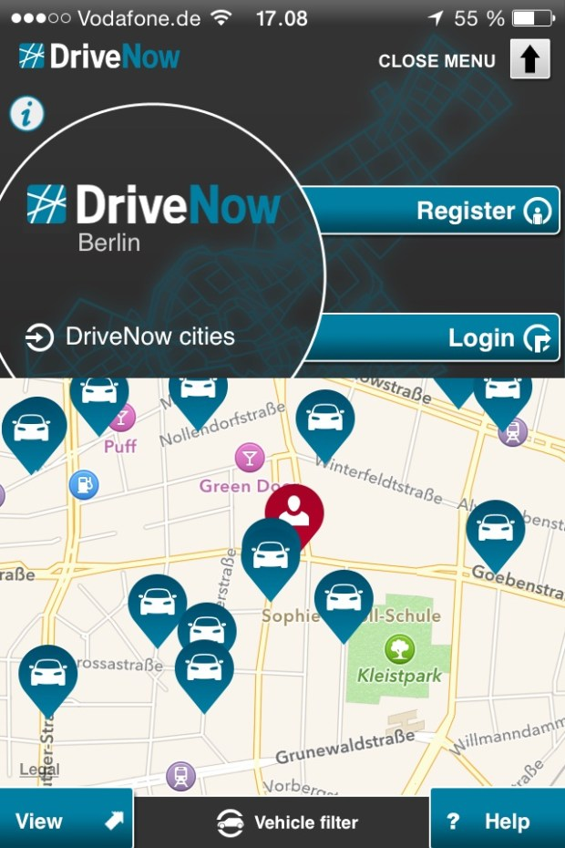 Drive-Now - lej bil i Berlin