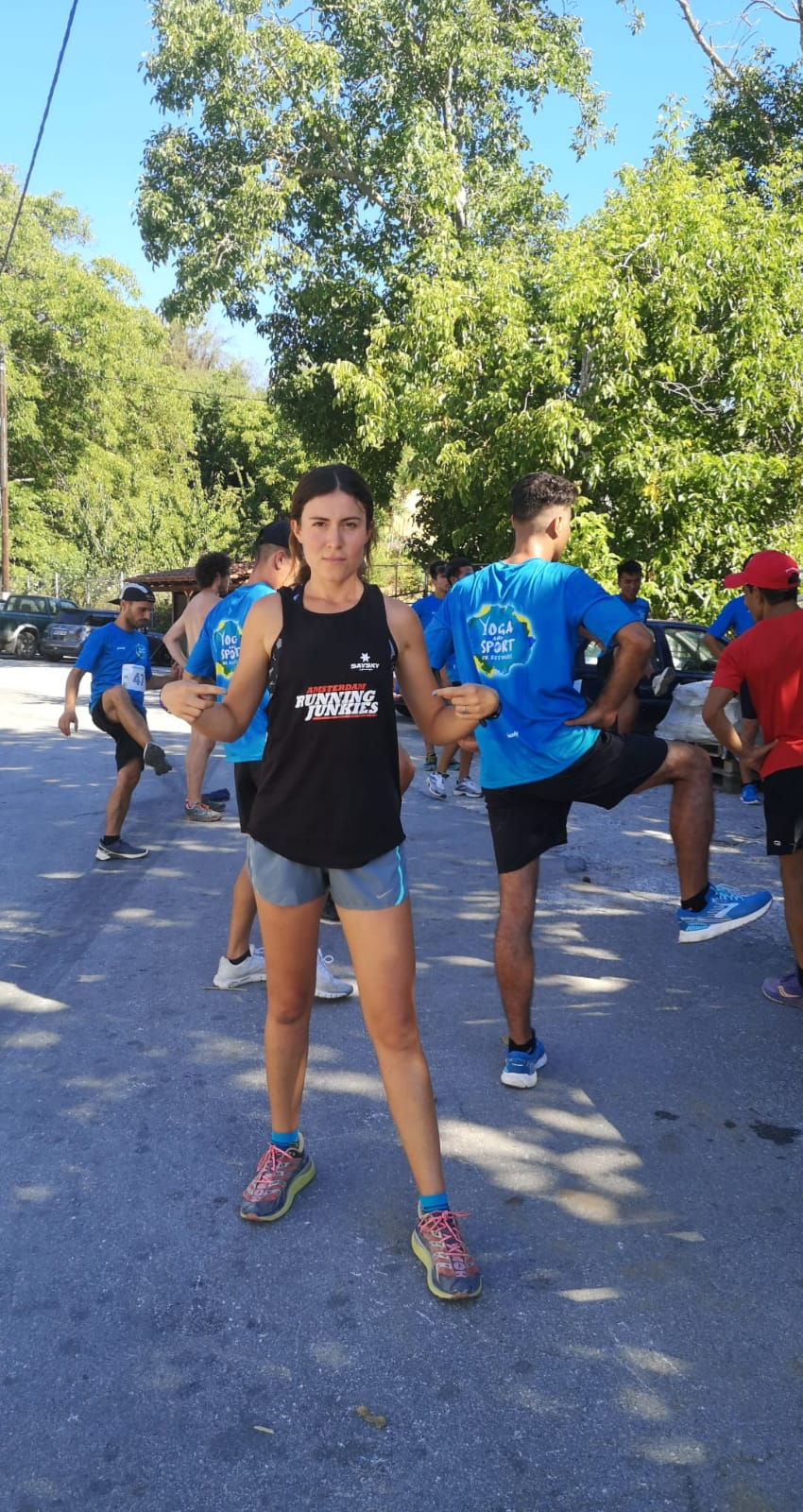 Estelle, founder of Yoga and Sport with Refugees