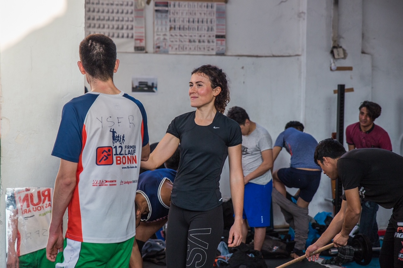 Estelle, Yoga and Sport with Refugees
