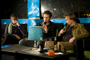 Merle Molkenthin, Ivo Lotion und Robert Schoen. Foto: Frank Freppon