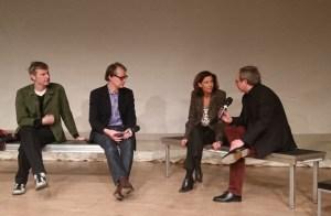 Can Oral, Hermann Bohlen, Amina Gusner, Jochen Meißner. Bild: Sophia Sprengel.