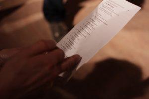 Das Publikum am Stimmzettel. Bild: Tim Zülch.