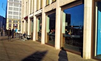 The facade of the Café Caras at the Potsdamer Platz