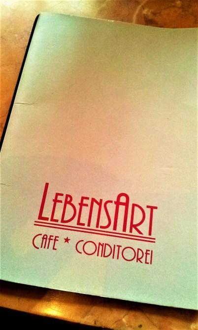 The menu of this artsy café