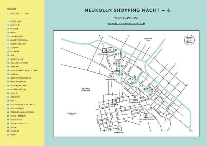 Berlin Loves You Neukolln Shopping Nacht Map
