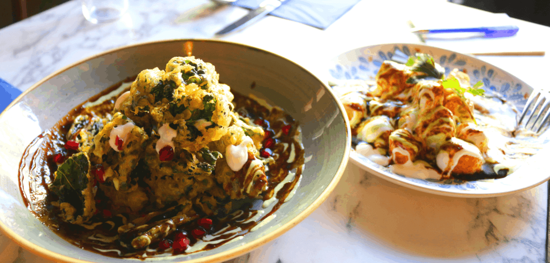 Bombay Cafe Buntys Berlin Loves You Sweet Potato Chaat Fried Kale