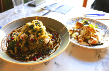 Bombay Cafe Buntys Berlin Loves You Sweet Potato Chaat Fried Kale