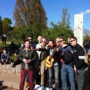 Musicisti di strada al Mauerpark