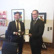 I sindaci Paolo Nardella e Michael Müller a Berlino