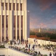 © Visualisierungen von der Vision des Projekts am Hermannplatz. Das Copyright der Renderings liegt bei David Chipperfield Architects.