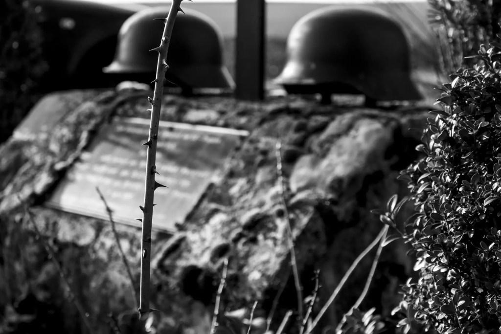 Wehrmacht, sl3p3r, https://pixabay.com/it/photos/natura-umano-guerra-wehrmacht-3260516/, CC0.