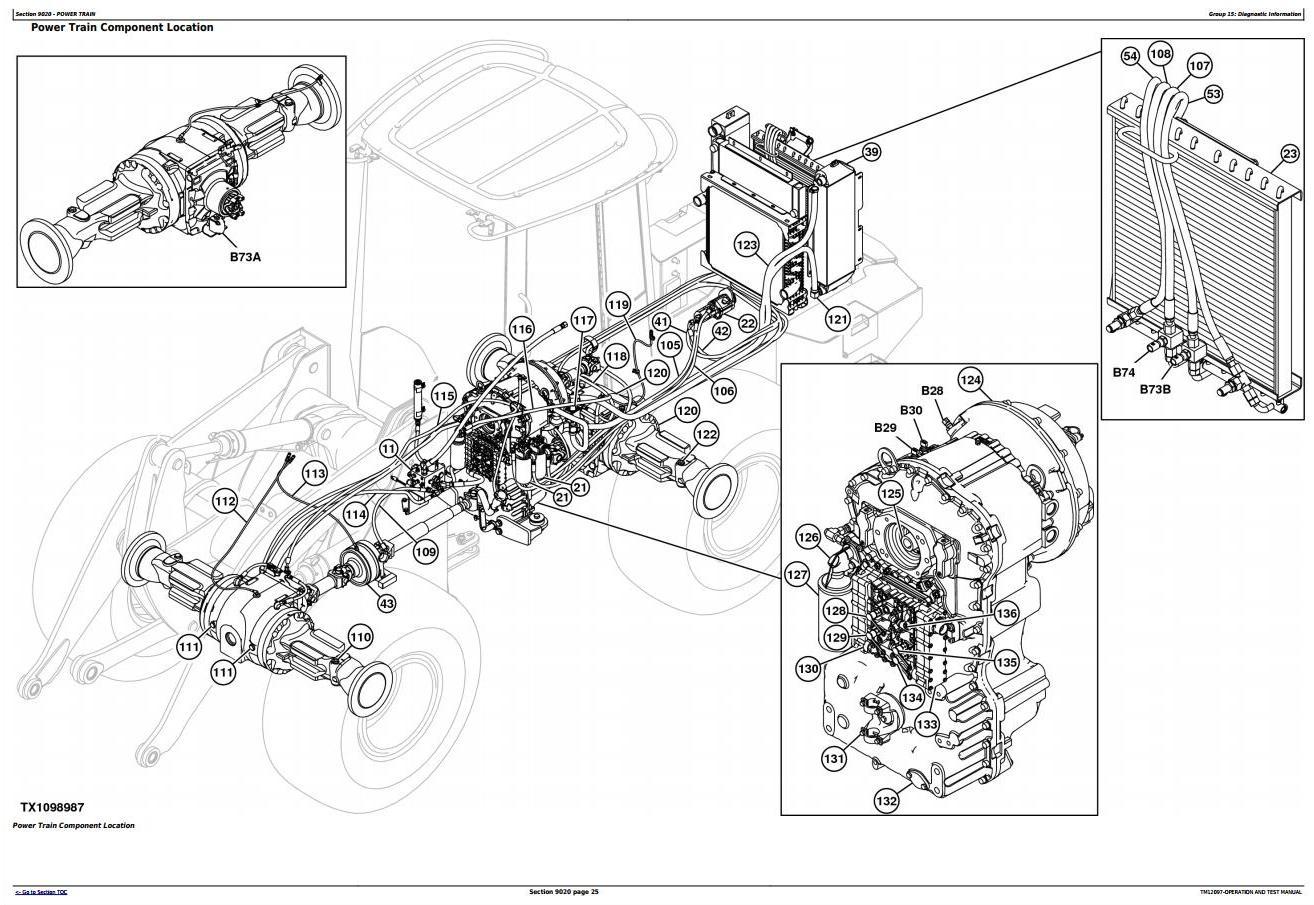 John Deere 544k 4wd Loader Sn E W Engine