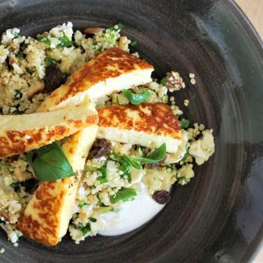 quinoa, salade, berloumi