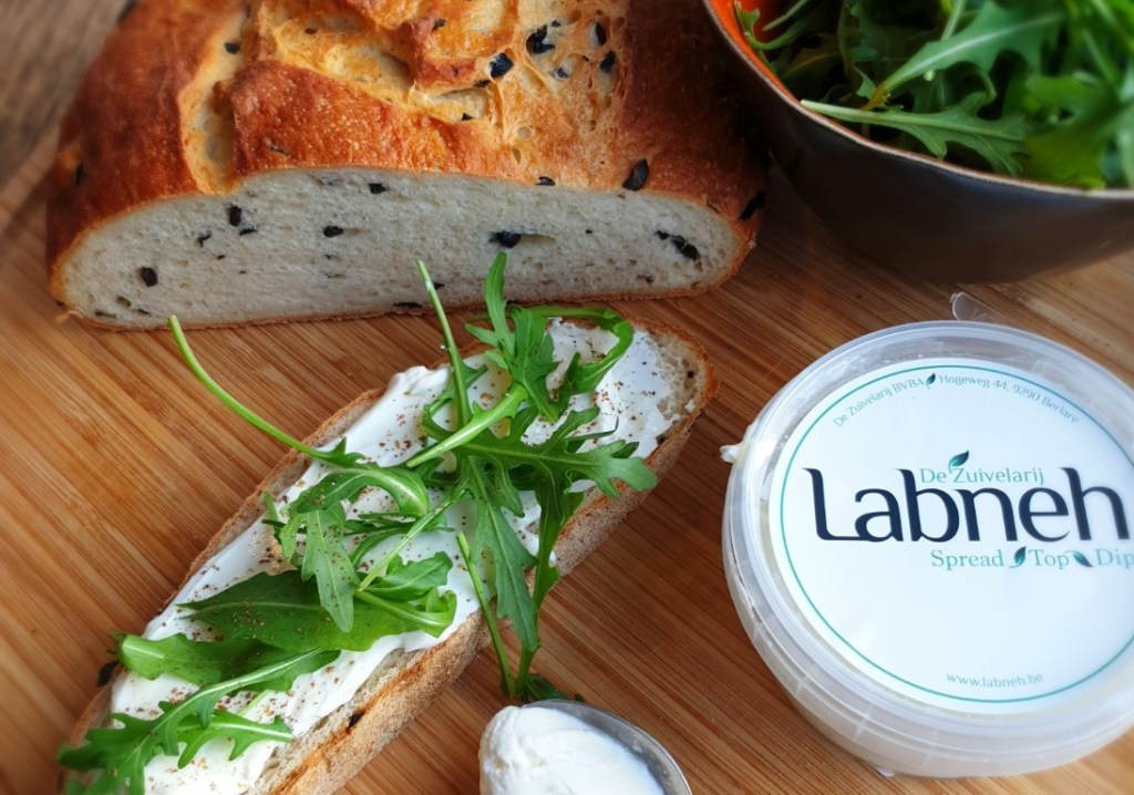 ricotta bread with labneh.
