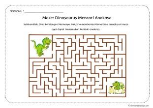 Maze_Dinosaurus_Mencari_Anaknya