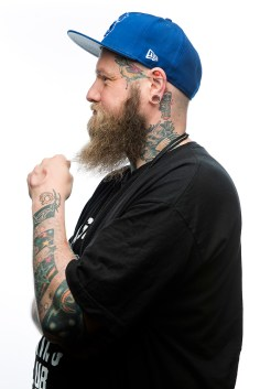 """Now I'm a collector,"" said tattoo artist Axl, who flew in from Frankfurt, Germany to Seattle for the first time just to work and be at the Seattle Tattoo Expo. He got his first tattoo when he was 18. ""I'm collecting [tattoos] from guys who I have a personal relationship with that represent a certain style."" (Daniel Berman, Special to seattlepi.com)"