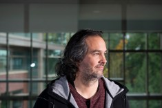Microsoft corporate vice president Kudo Tsunoda and Microsoft Games Studios Head of Publishing Shannon Loftis, photographed in Studio C at Microsoft Headquarters in Redmond, Wash Nov. 9, 2015. Photo by Daniel Berman/www.bermanphotos.com