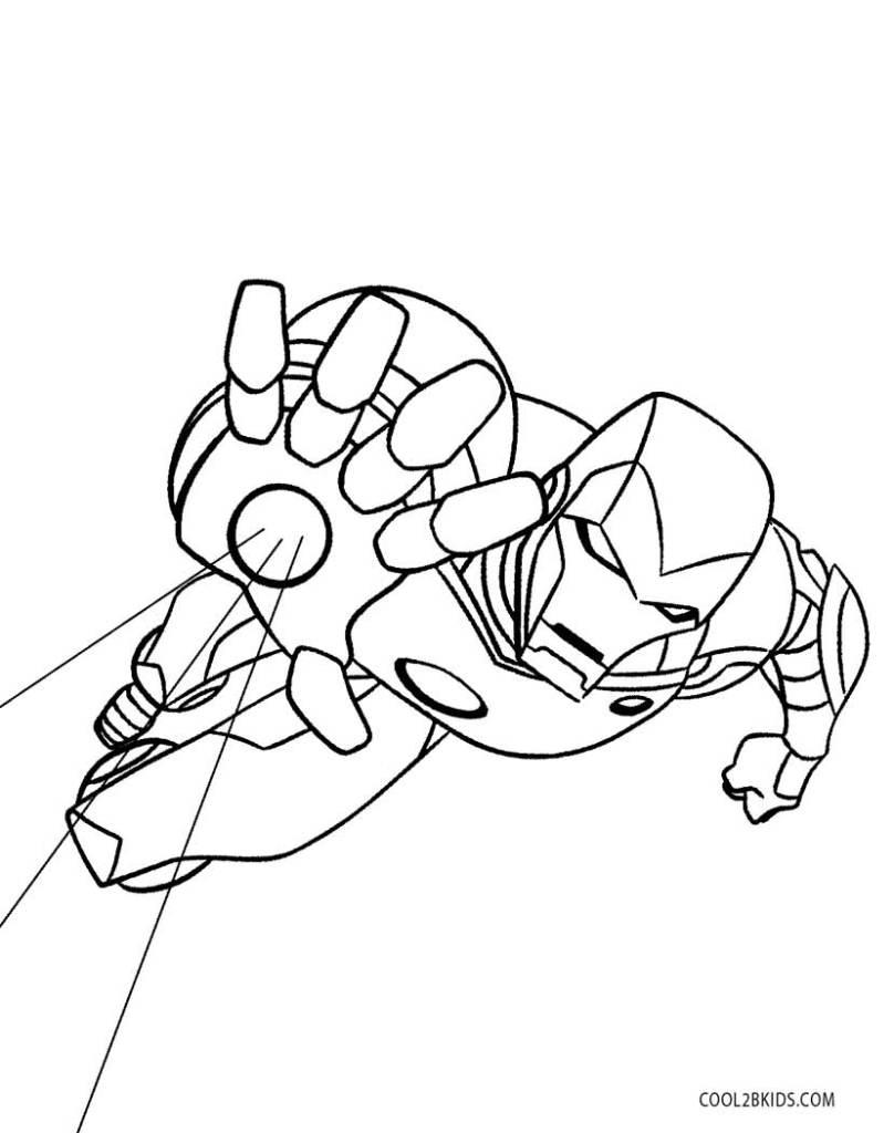 Coloriage De Iron Man A Imprimer
