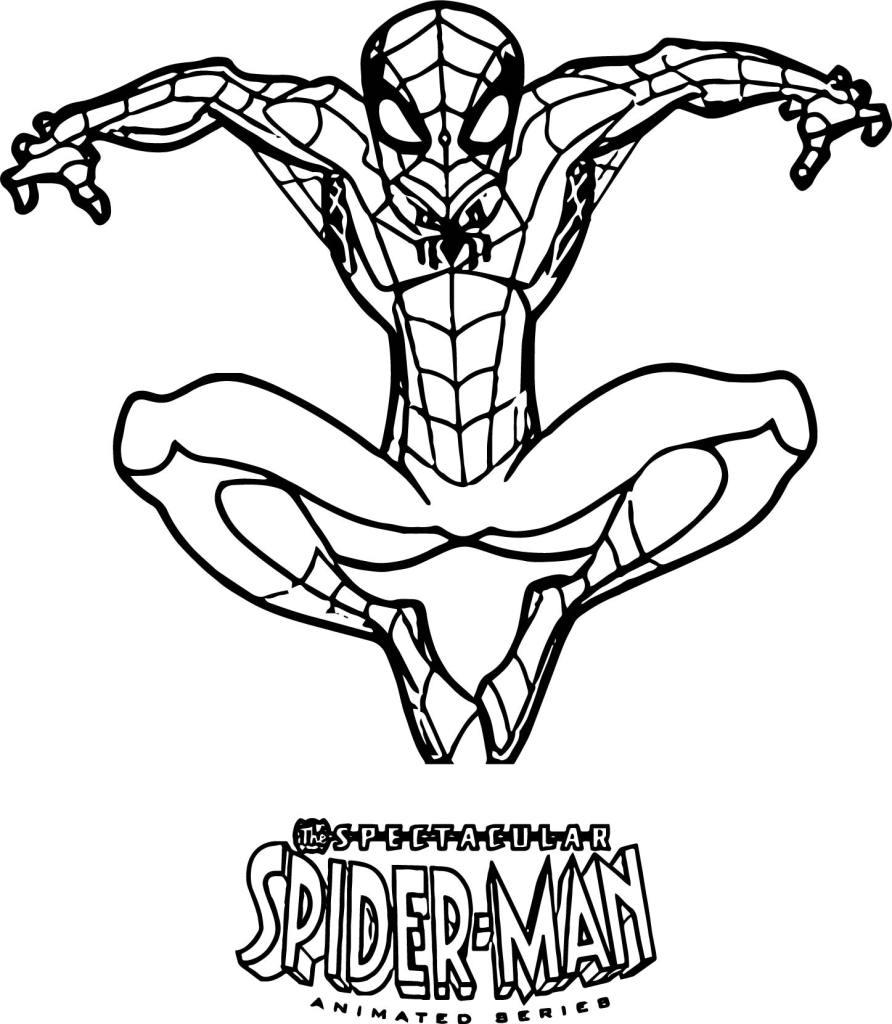 Coloriage Moto Spiderman