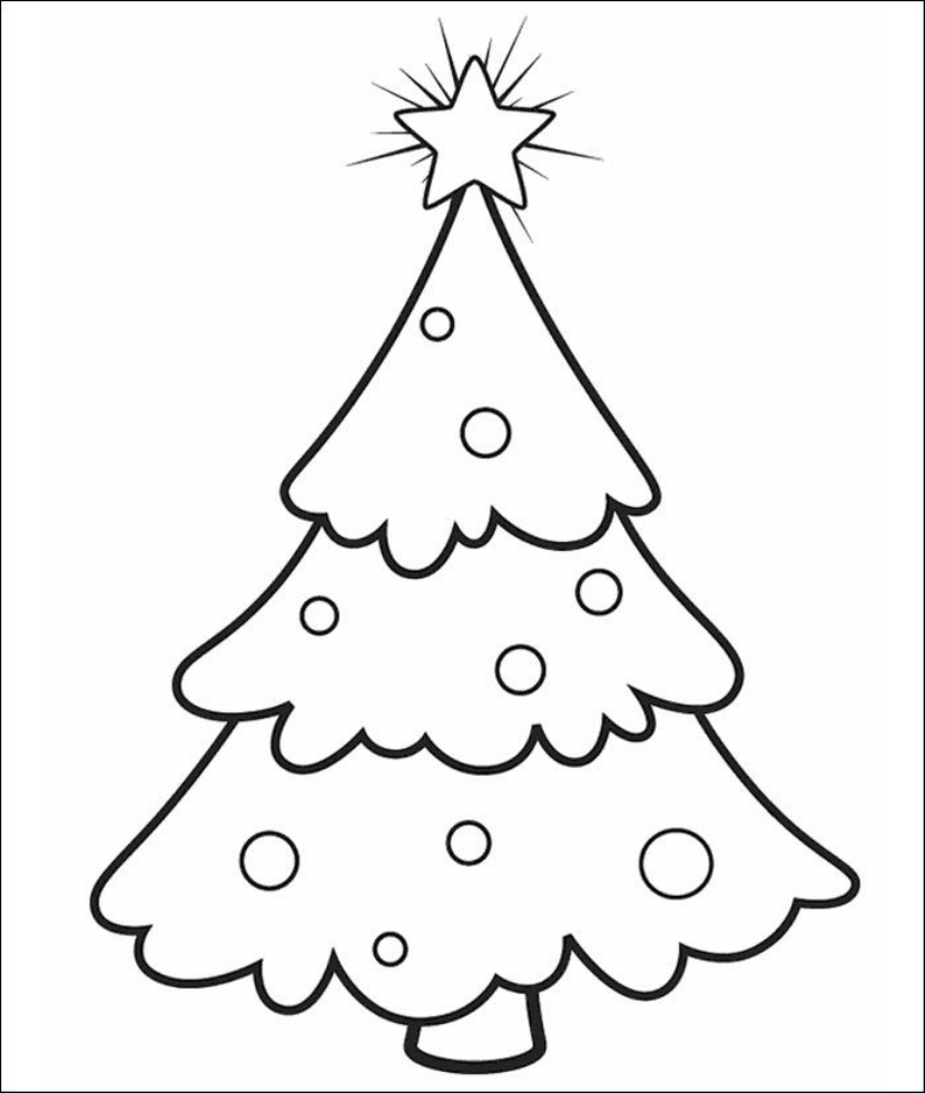 Coloriage Sapin Maternelle