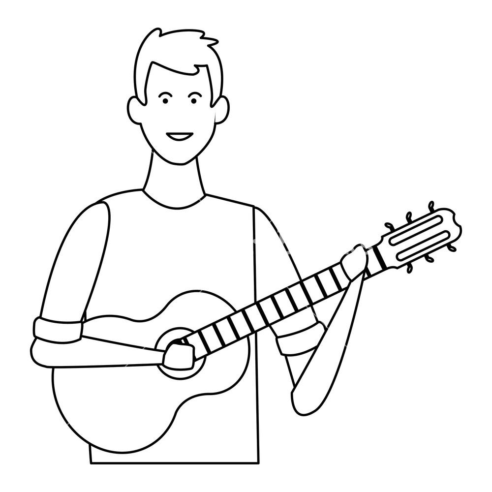 Dessin Guitare Classique