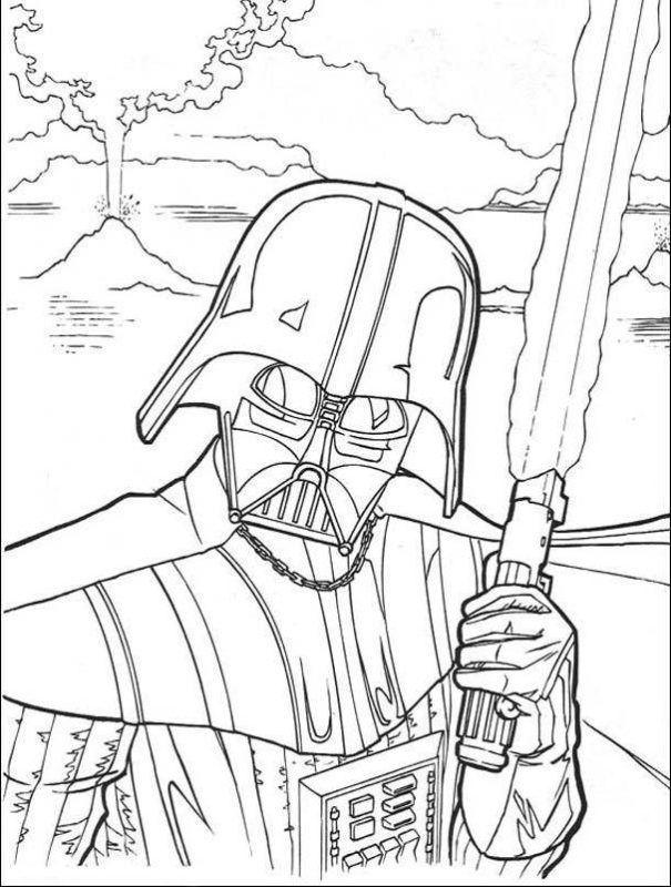 Dessin Star Wars Dark Vador