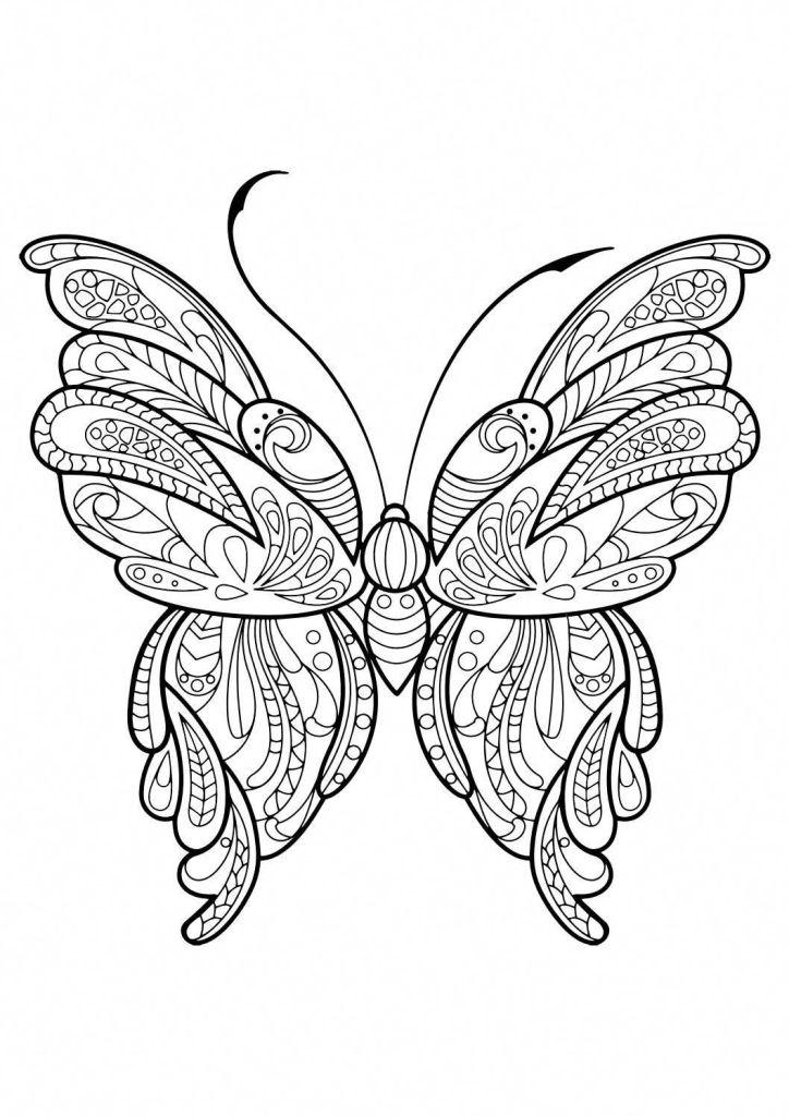 Libre Papillon Coloriage Facile