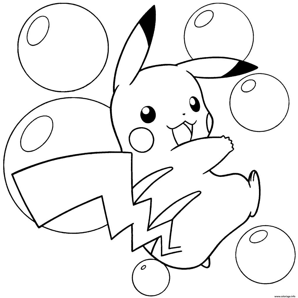 Dessin De Pokemon Pikachu