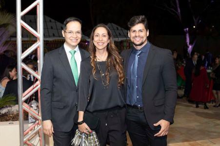 Marcelo Chaves, Tatiana Kalil e Pedro Peralta