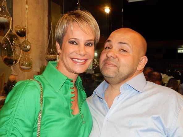 Colunista Lia Dinorah com Rodrigo Resende