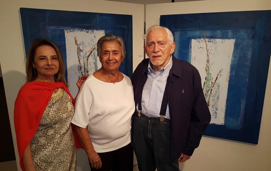 Antônia Célia com Maria e Geraldo Vasconcellos