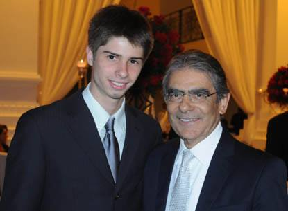 Gilbert Di Angellis com o Ministro Carlos Ayres Britto, então presidente do STF