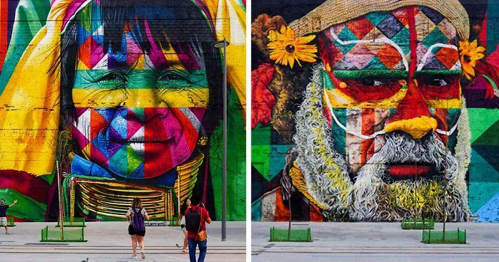 Mural de Kobra no Rio de Janeiro sacode nossa consciência