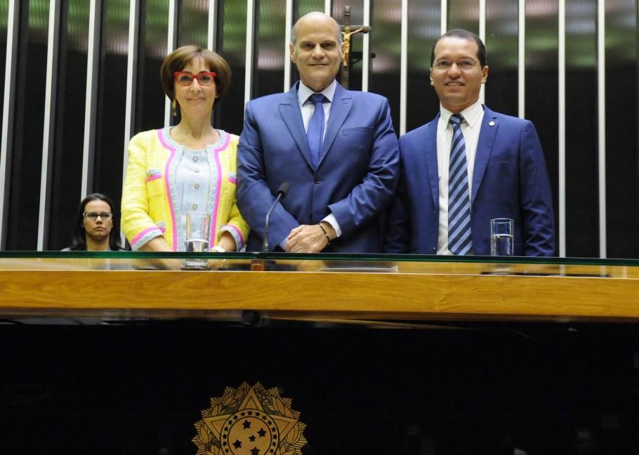 Sessão Solene 25 anos do Instituto Ayrton Senna - Viviane Senna, Paco Britto e deputado Tito - Bernadete Alves