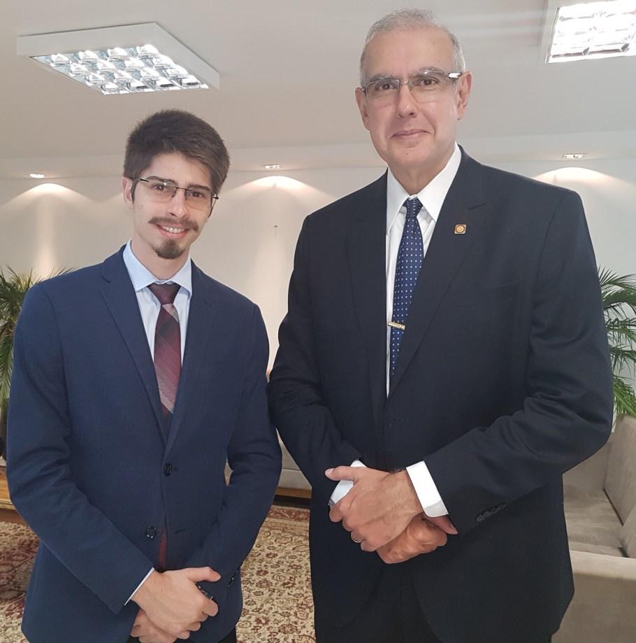 Advogado Gilbert Di Angellis e o ministro Dr. José Barroso Filho, vice-presidente do STM - Bernadete Alves