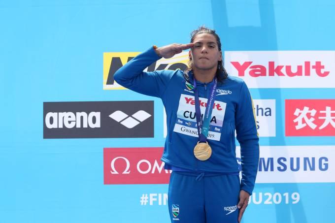 Ana Marcela é a maior medalhista em Mundiais de Maratonas Aquáticas - Bernadete Alves