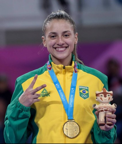 Milena Titoneli ouro no Taekwondo feminino no Pan 2019