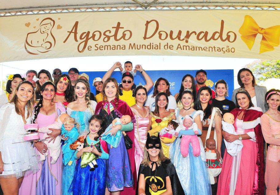 Mayara Noronha promove Agosto Dourado em evento no Parque da Cidade - Bernadete Alves