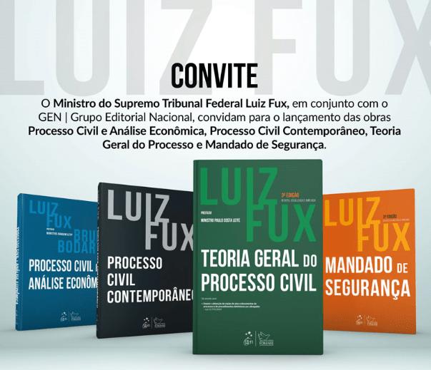 Ministro Luiz Fux lança livros sobre Processo Civil
