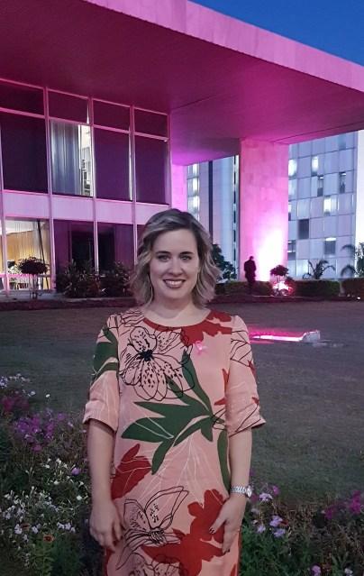 Secretária da Mulher, Ericka Filippelli, no lançamento das ações para a prevenção e o enfrentamento do câncer de mama